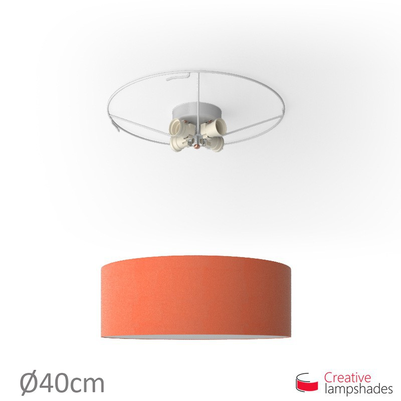 Round ceiling lamp with Lobster Cinette covering