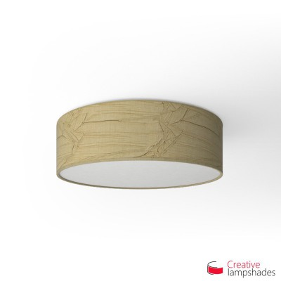 Round ceiling lamp with Hazel Palmeras covering