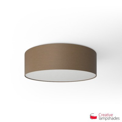 Round ceiling lamp with Grey Arenal covering