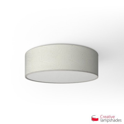 Round ceiling lamp with Milk Palmeras covering