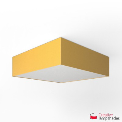 Square ceiling lamp with Golden Yellow Canvas cover