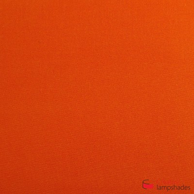 Square ceiling lamp with Orange Canvas cover