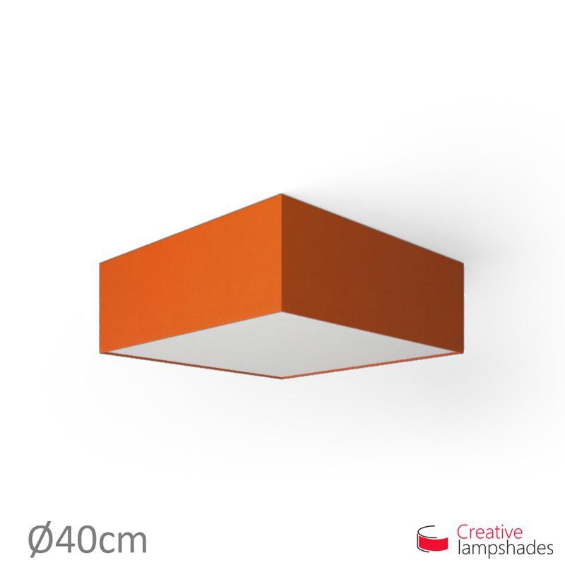Plafoniera quadrata rivestimento Teletta Arancio