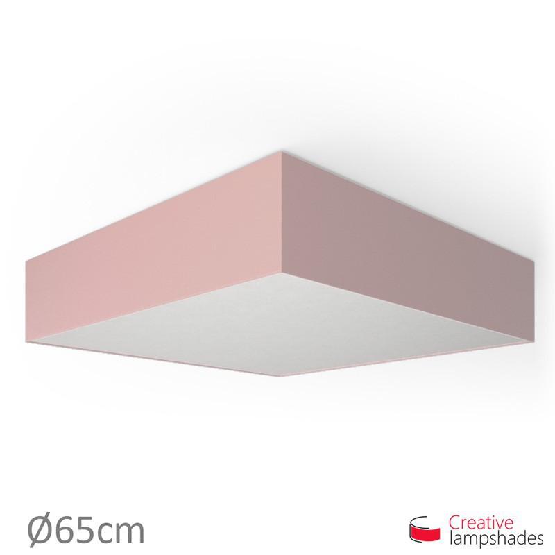 Plafoniera quadrata rivestimento Teletta Rosa