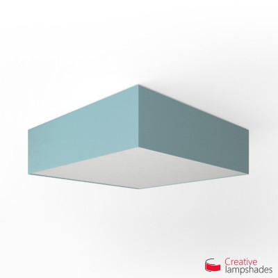 Square ceiling lamp with Heavenly Blue Canvas cover