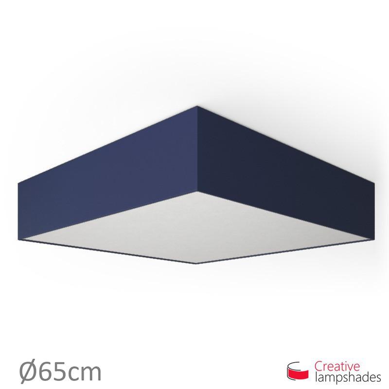 Plafoniera quadrata rivestimento Teletta Blu