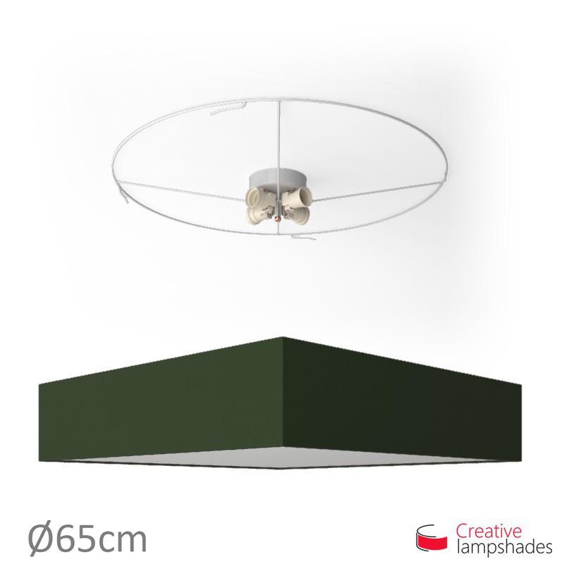 Plafoniera quadrata rivestimento Teletta Verde Scuro