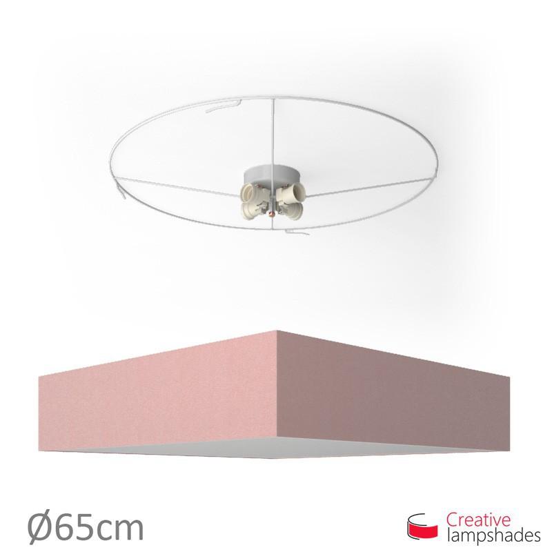 Plafoniera quadrata rivestimento Cinette Rosa Antico