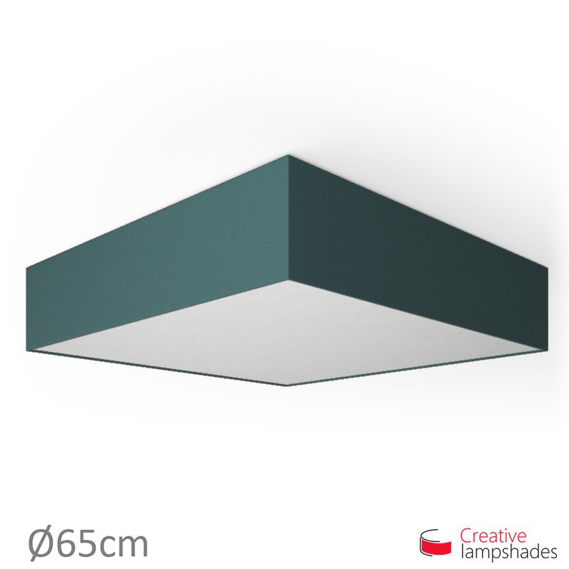 Plafoniera quadrata rivestimento Cinette Blu