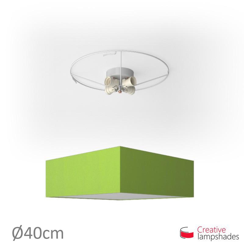 Plafoniera quadrata rivestimento Cinette Verde Pistacchio
