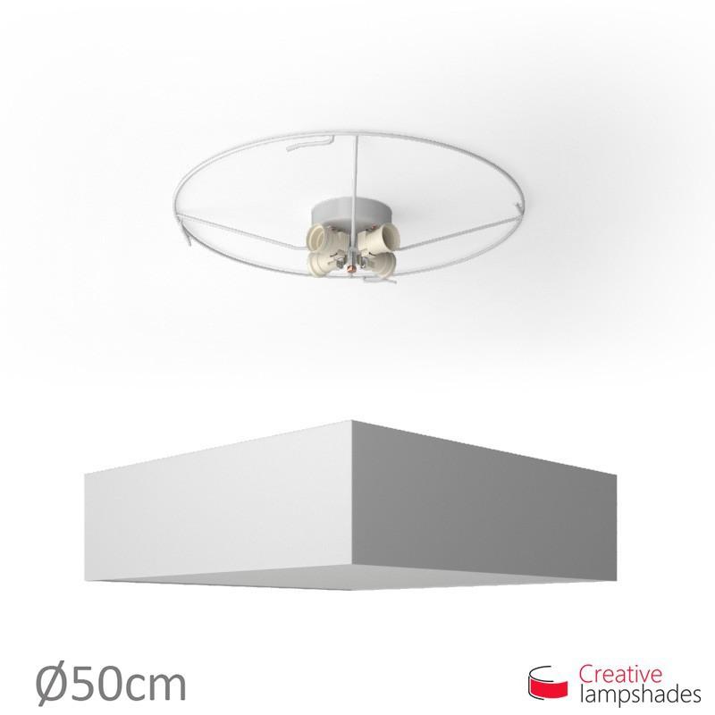 Plafoniera quadrata rivestimento Lumiere Bianco