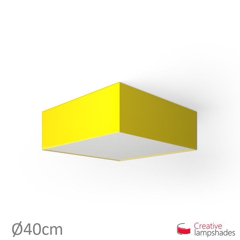 Plafoniera quadrata rivestimento Lumiere Giallo