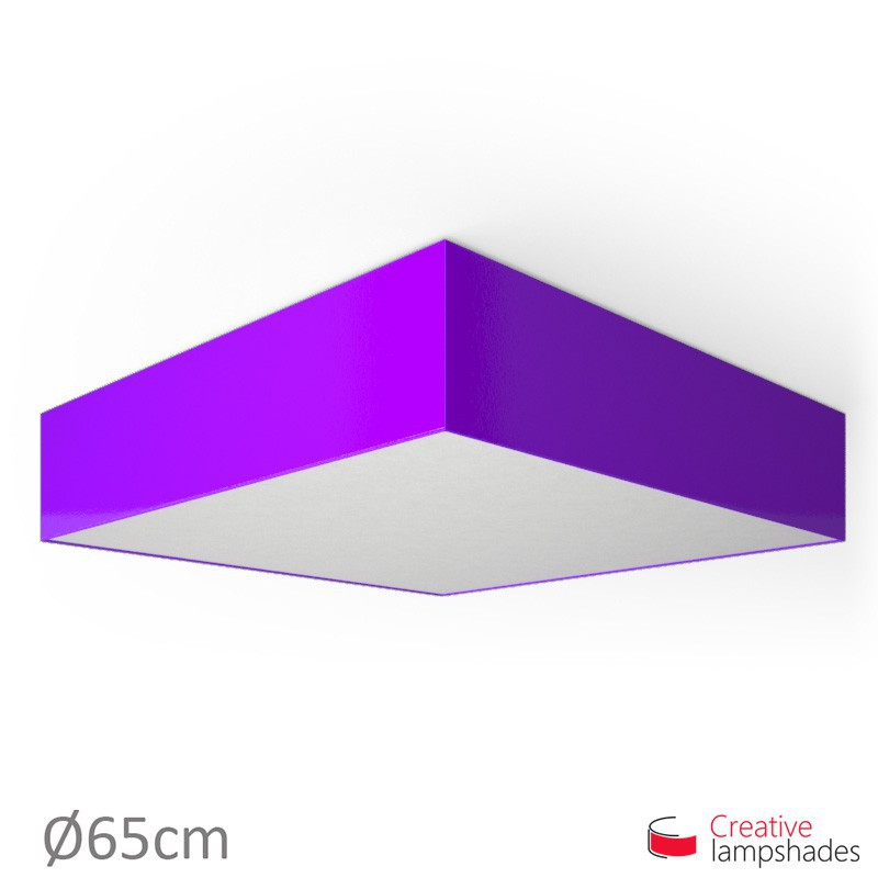 Plafoniera quadrata rivestimento Lumiere Viola
