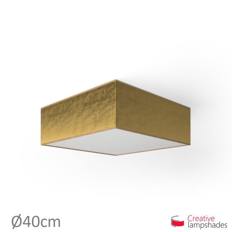 Plafoniera quadrata rivestimento Foglia Oro