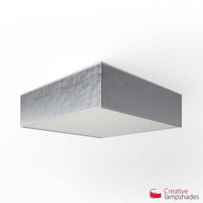 Plafoniera quadrata rivestimento Foglia Argento