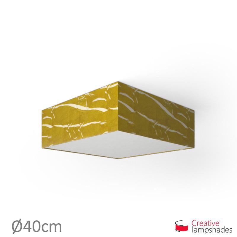 Plafoniera quadrata rivestimento Persia Oro