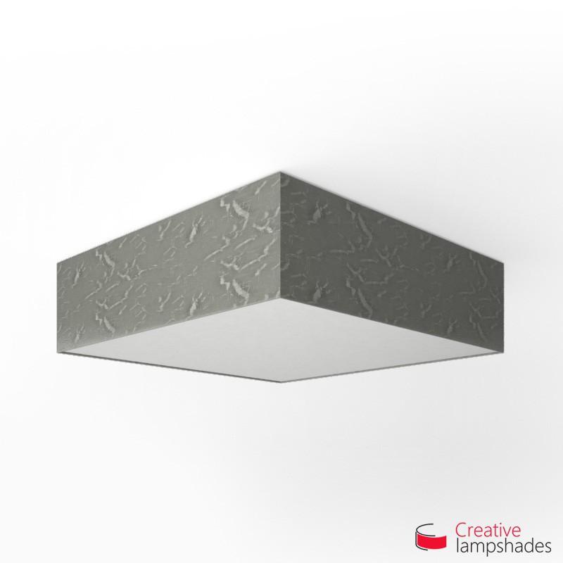 Plafoniera quadrata rivestimento Persia Argento