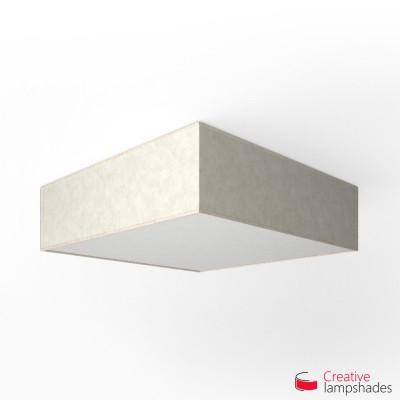 Plafoniera quadrata rivestimento Pergamena Bianco