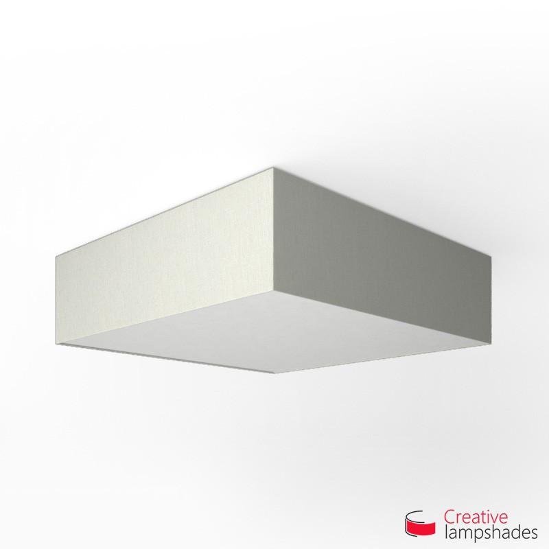 Plafoniera quadrata rivestimento Linone Bianco