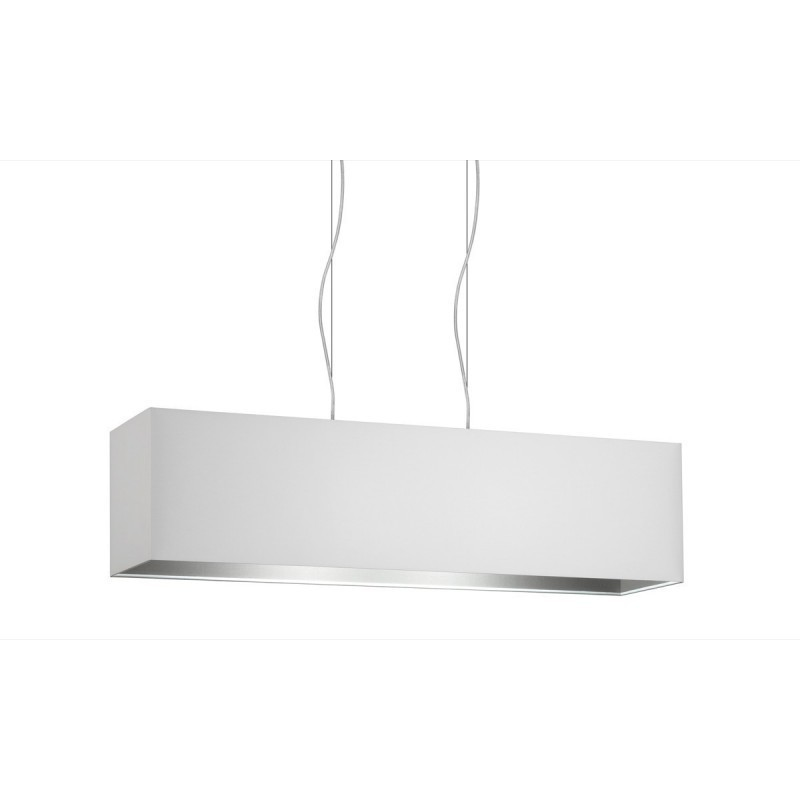 White Ash double fabric two-light square pendant lamp cm 99x24 h25.