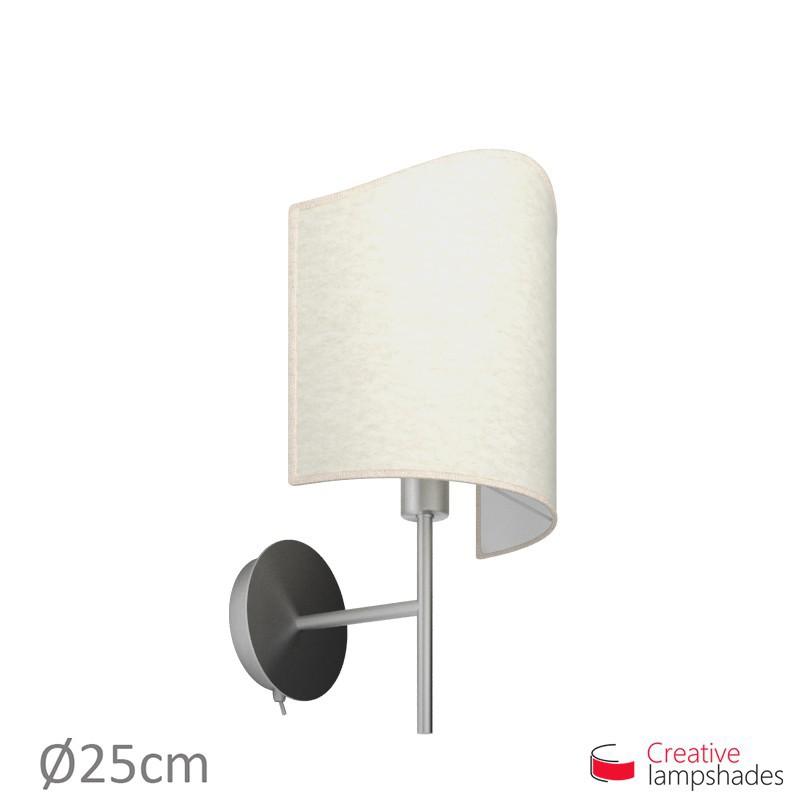 Lenschirm Pergament halbrund zylinder für wandleuchte jakobsmuschel weiß pergament