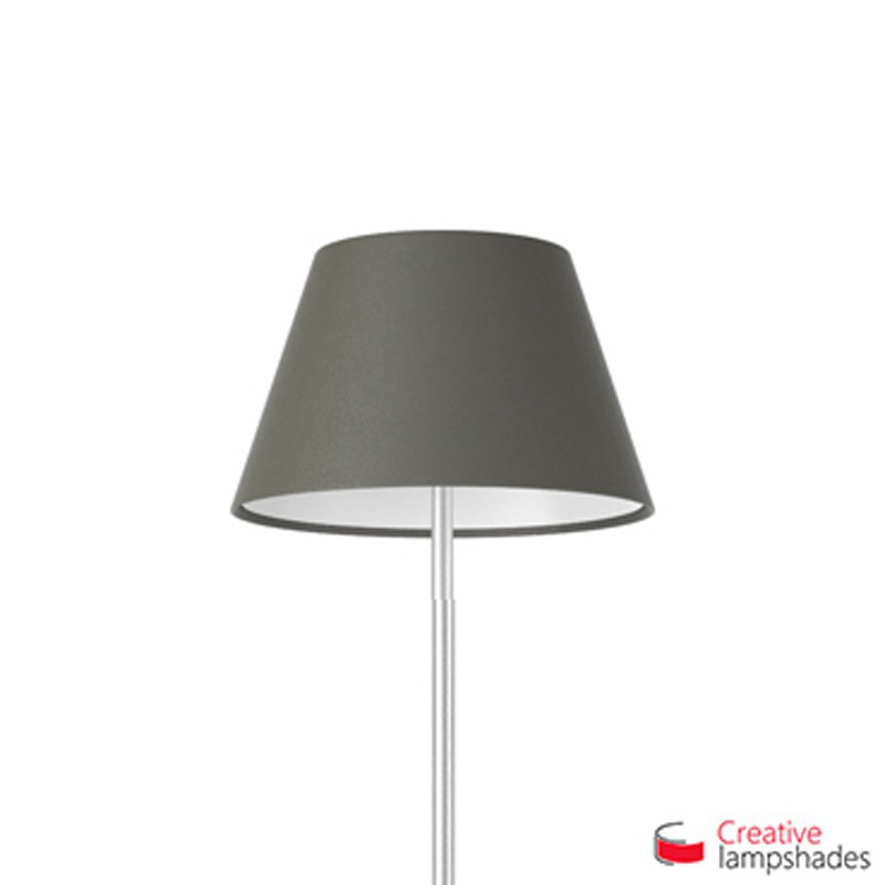 Empire Lamp Shade Ash Canvas covering