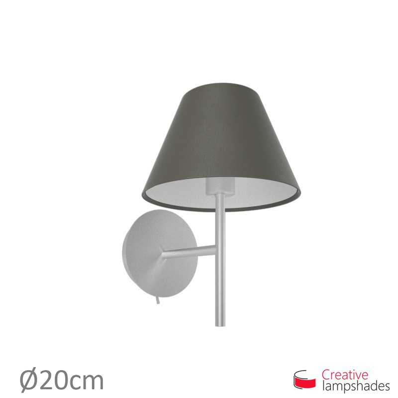 Chinese lampshade with Ash Canvas covering