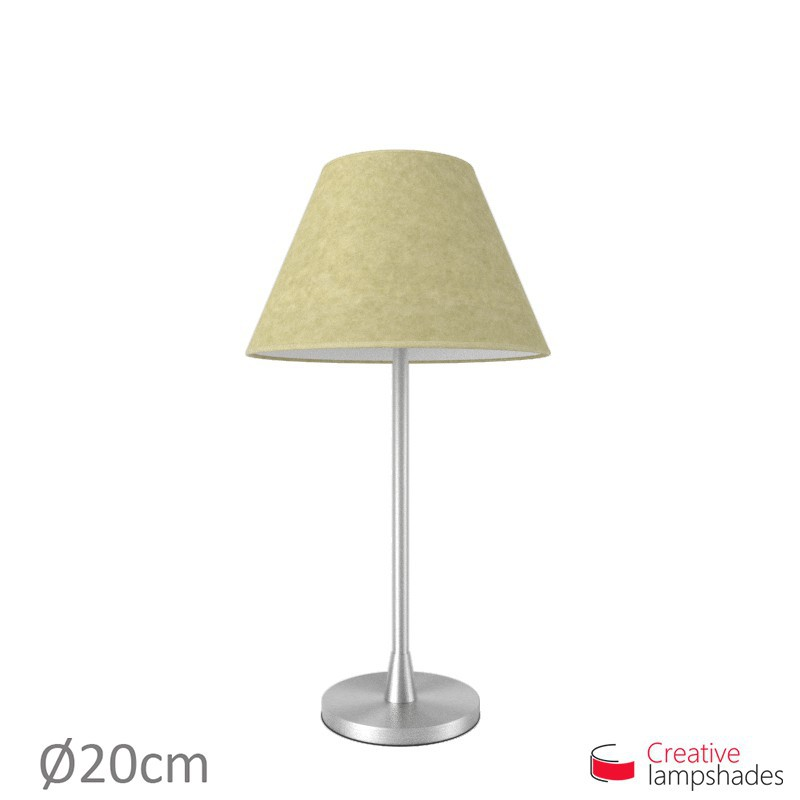 Chinese lampshade with Light Yellow Parchment covering