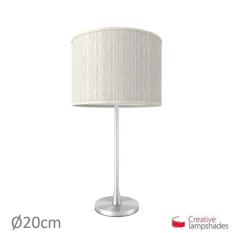 White pliss organza cylinder lamp shade aloadofball Choice Image