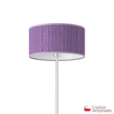 Pantalla Cilindro Recubrimiento Organdí Plisado Púrpura