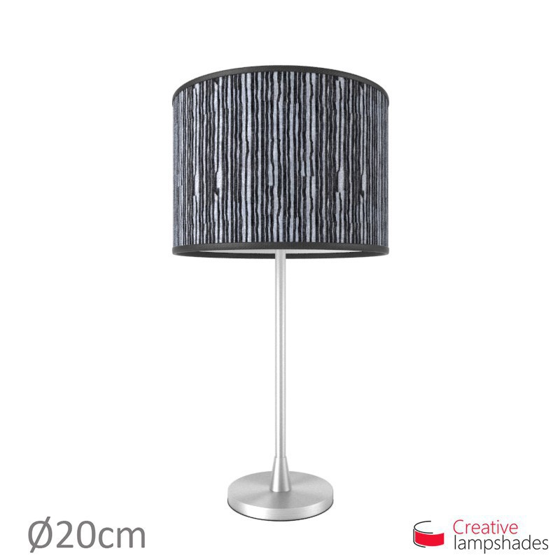 Black pliss organza cylinder lamp shade aloadofball Choice Image