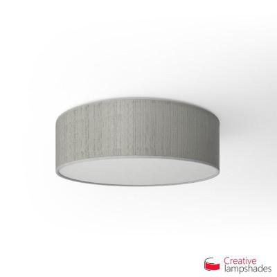 Round ceiling lamp with White Plissé Organza covering