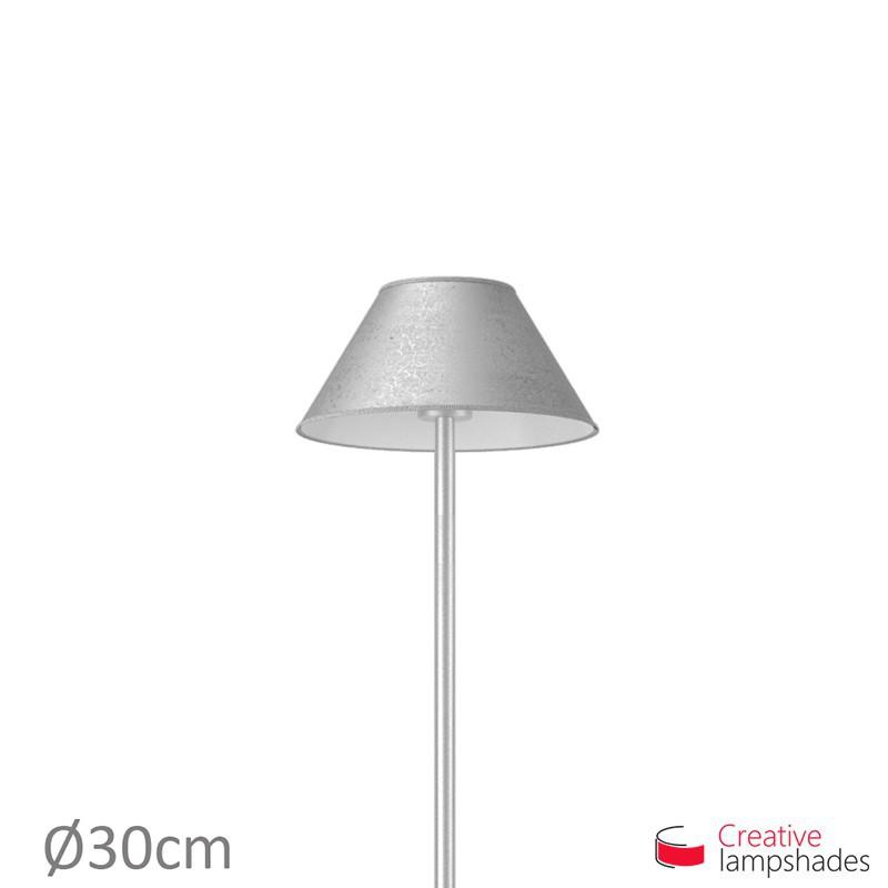 Chinese Lampenschirm Blattsilber Optik Metall
