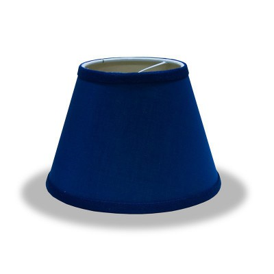 Empire lampshade with Blue Canvas covering and hem