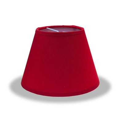 Empire lampshade with Red Canvas covering