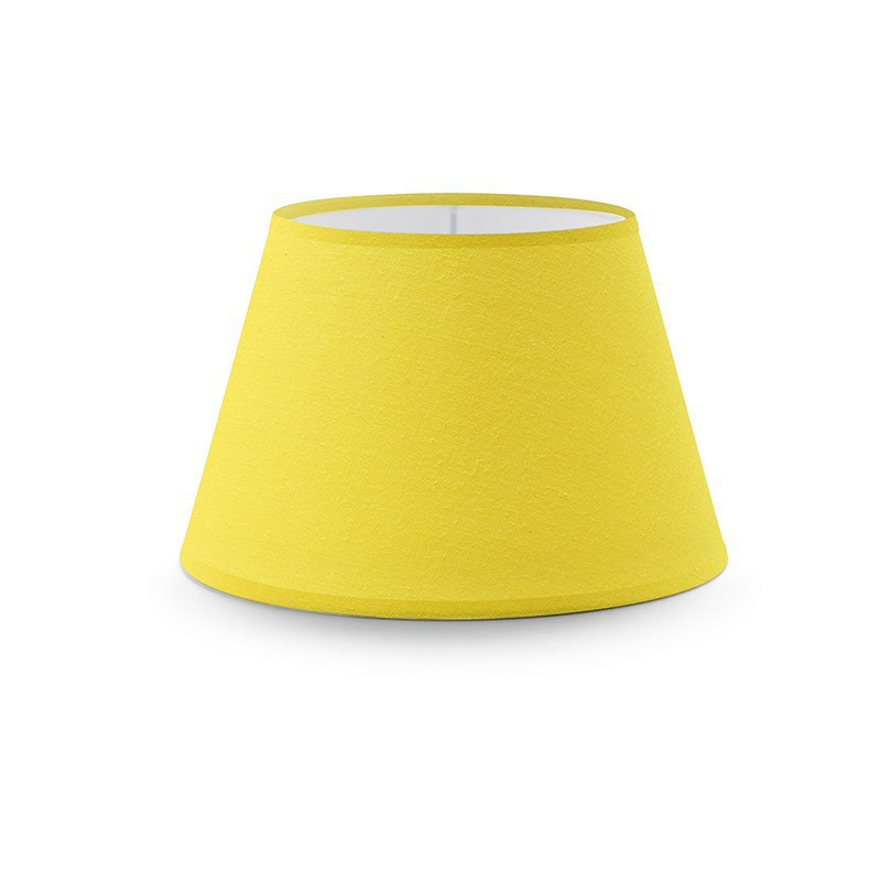 Empire lampshade with bright yellow canvas covering aloadofball Image collections
