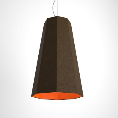 Otta two-colour octagonal pendant - brown and orange