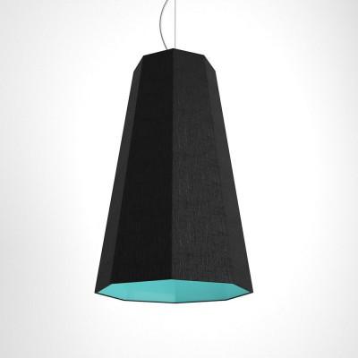 Otta Suspension octogonale bicolore noir et turquoise