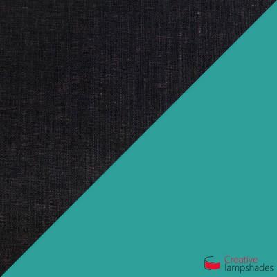Otta die achteckig zweifarbige Pendelleuchte - schwarz und türkis