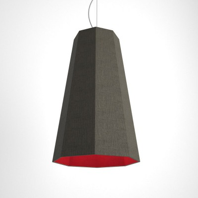Otta two-colour octagonal pendant - grey and burgundy
