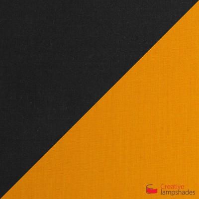 Trittico Multi-pendant Tri-cone lampshade -   black and mandarine orange