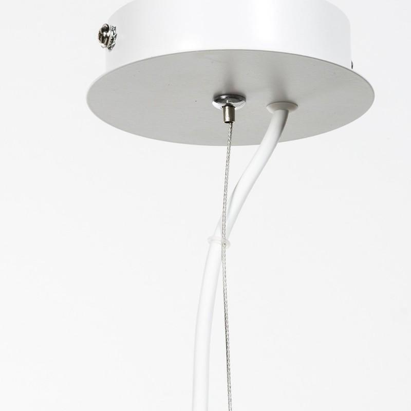 Pendel tondo bianco laccato ad una luce E 27 max 60 w