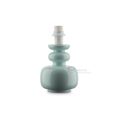 Ceramic Table-lamp base, Cactus collection, Aquamarine color, E14 fitting, Max 40W