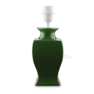 Ceramic Table-lamp base, Italia collection, bigger version, Green color, E27 fitting, Max 60W