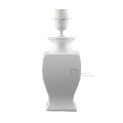 Tischleuchte Italia groß Farbe weiß mit Anschluss E27 Max 60W