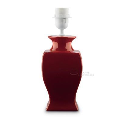 Ceramic Table-lamp base, Italia collection, bigger version, Red color, E27 fitting, Max 60W