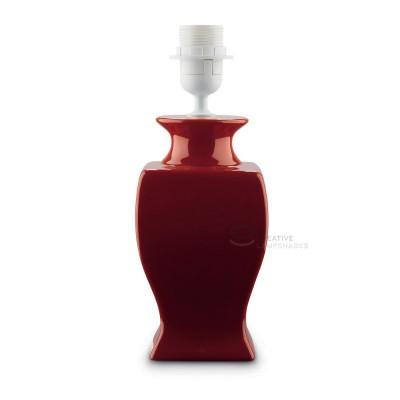 Ceramic Table-lamp base, Italia collection, smaller version, Red color, E27 fitting, Max 60W