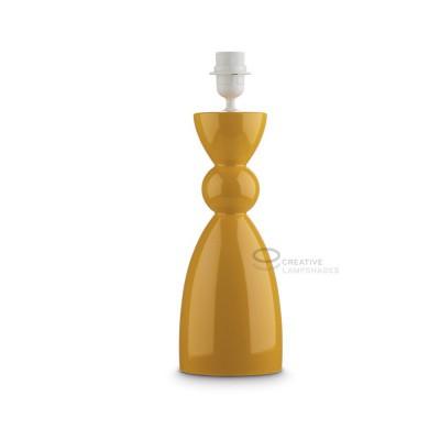 Ceramic Table-lamp base, Carmencita collection, Yellow color, E27 fitting, Max 60W