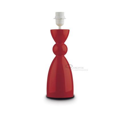 Base pour lampe de table en céramique collection Carmencita couleur Rouge avec culot E27 Max 60W