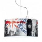 Lampe suspension complète Londres underground avec culot E27 max 60W